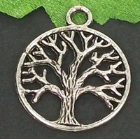 Wholesale MIC Tibetan Silver TREE DANGLE Charms Pendant Jewelry DIY