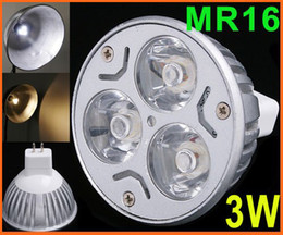100pcs 12V 3W 3*1W MR16 GU5.3 White LED Light Led Lamp Bulb Spotlight Spot Light via DHL FedEx