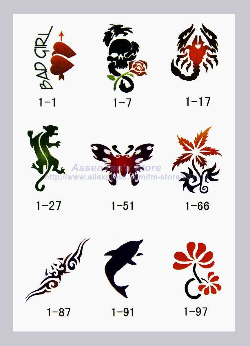 2017 temporary airbrush tattoo stencils book template booklet 1 100 designs from sarko 49 2. Black Bedroom Furniture Sets. Home Design Ideas