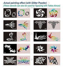 Wholesale 50pcs Big Size x15cm Tattoo Stencils for Body art Painting Temporary Glitter Tattoo Kit