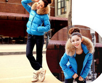 Wholesale 2013 Hot Womens Thickening Big fur collar Leather A short paragraph Loose coat New YZ9206