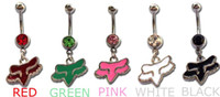 Wholesale Fox body jewelry piercing stainless steel Dangle Button belly rings