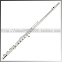 Wholesale Exquisite e key silver plated flute musical instrument product