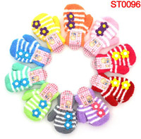 Wholesale children gloves girls candy colored flowers plush kids full finger gloves mix colors pairs