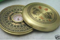 Wholesale Tibetan Brass quot Feng Shui quot Dragon Compass