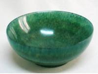 Wholesale Real Handmade Chinese Tibetan JADE Stone Green Jasper Bowl