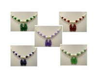 Women's Sterling Silver Asian & East Indian White pearl & green jade necklace+elephant pendant 5 color free choice