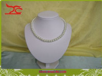 Wholesale leatherette jewelry displays Promotion Jewelry Table Necklace Display Bust Torso White PU