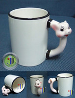 Wholesale Jetyoung Animal Coated Mug for Sublimation Ink or Heat Transfer PIG MUG pic mug pc pack DIY gift