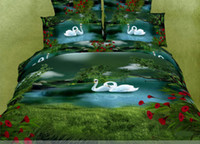 Wholesale High Quality bedding set Luxury D Oil painting design MORE landscape pc Bedsheet Set Hotel Bedding Set