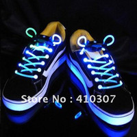 Wholesale LED Shoelace Mode Light Up Colorful Bootlace Shoestring Disco Party Flash Shoelace Shoe Laces Super