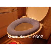Cheap Warmer Toilet Seat Cover Colorful Mat Bathroom Mat Toilet Sets Washable Cloth Seat Cover Pad O Type Soft 200 pcs