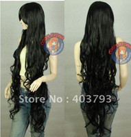 Wholesale whole sale can buy NEW Black Sexy Extra Long Wavy Cosplay Wig wigs