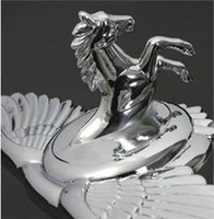 Wholesale auto standard the Horse head luxury car Pegasus Emblems logo