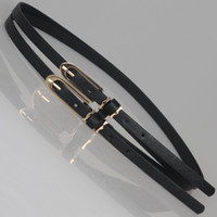 Wholesale Double thin belt long chain combination small strap women s belts