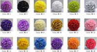 Wholesale New quot Silk Rose Flowers Balls Kissing Balls Optional Colors Wedding Bows