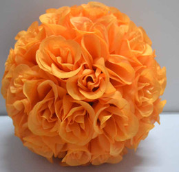 "Lot of 10 Orange Flower Kissing Balls 12"" diameter very beautiful"