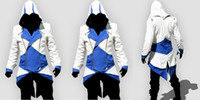 Wholesale Assassin s Creed III Conner Hoodie Blue Jacket Cosplay Costume
