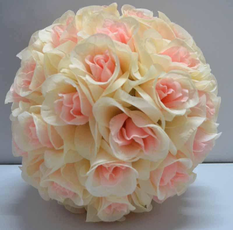 Rose flower rose flower ball silk rose pomander flower ball bridal wedding decor favor party mightylinksfo