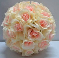 Wedding rose balls wedding - Silk Rose Pomander Flower Ball Bridal Wedding Decor Favor Party Kissing Balls