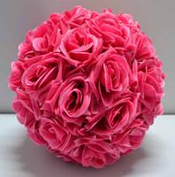 Seda Rosa Flor boda bola colgante Decoración Floral Suministros Kissing Balls