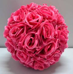 Silk Rose Wedding Flower Hanging Ball Decorations Floral Supplies Kissing Balls