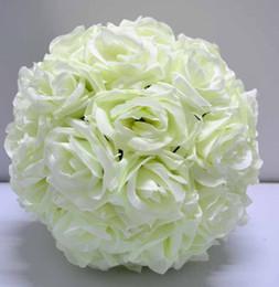 Silk kissing ball rose flower ball wedding church decoration supplies 30cm diameter
