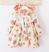 Wholesale Flower girl dresses Baby jumpsuit One piece dress children s dress Dust coat Spring outwear