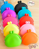 Wholesale 20PCS Silicone Coin Purse Lovely Coin Bag Silicone Money Bag Puse Coin Wallet