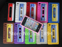 audio tape cases - For iPhone S G Silicone Audio Tape Cassette Case