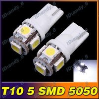 Wholesale 2pcs SMD LED T10 Bright Car Auto Wedge Light Lamp Bulb Lamps Bulbs Lights Light White Color