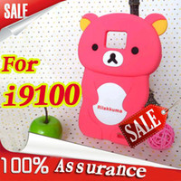 Wholesale fashion design Rilakkuma Silicon soft Back Cover cell phone case for Samsu