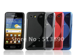 Wholesale Galaxy S advance case DHL Free Ship For Samsung i9070 S line TPU silicon soft case back cove