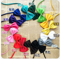 Wholesale Cat Dog bow ties bowknot design cute pets ties colors available choice CW014