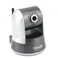 Wholesale Tenvis IProbot3 Wireless Indoor IR WIFI IP Network Camera CCTV Nightvision White