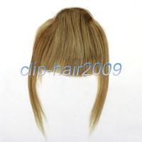 Wholesale New Fashion Girls Clip on Front Inclined Bang Fringe Human Hair EXTENSIONS