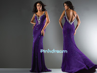 Reference Images V-Neck other WoW! WoW! Purple V-Neck Prom Dress Full of Colorful Rhinestone Beads Crystal Evening Dresses PEH9419