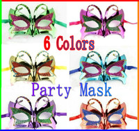Wholesale 10pcs Women s Butterfly Mask For Carnival Halloween Masquerade Dance Party masks Mix Send