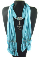 Wholesale Pendant necklace scarves shawls womens scarves novel scarves cotton fashion scarves