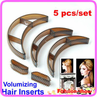Wholesale 3sets in Bumpits Big Happie Hair Volumizing Inserts Hair Pump Beauty Set Tool Gift