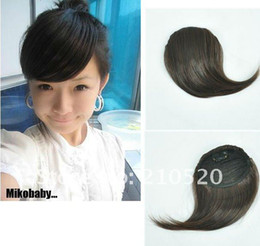 Wholesale New Fashion Girls Clip on Front Inclined Bang Fringe Hair Extensions