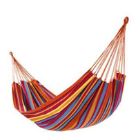 Wholesale One Person Family Camping Camp One Person Canvas Outdoor Leisure Fabric Stripes Hammock