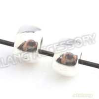 Wholesale Round Stopper Tubes Silver Plated Beads Charms for Pandora Bracelet Jewelry Making