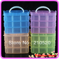 Wholesale 1PCS Multi Utility jewel Storage Case Box Layer Nail Art Craft Fishing Makeup Tool casket