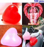 Wholesale 100pcs Heart Shape Balloons Occasions Wedding Birthday Party Decoration Supplies