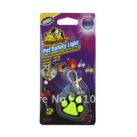 Wholesale Paw Shaped Anti lost Pet Dog Three Colors Blinking Pendant Hanging Ornament