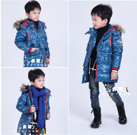 Wholesale Down Jacket Boys Winter Wear Handsome Children Down Coat White Duck Down Warm Clothes
