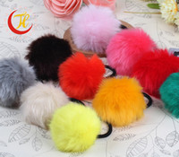hair rubber band - Korean Style Cute Colored Bead Elastic band Hair Accessories Hair Rubber For Girl XH