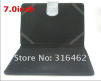 Wholesale Leather case for inch MID Tablet PC Netbook Notebook with two model black color free HK p