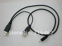 2-4 USB 2.0 480Mbps USB2.0 2 Male to Mini 5-Pin Y Cable,Hard Disk Drive Case cable 60pcs lot free EMS